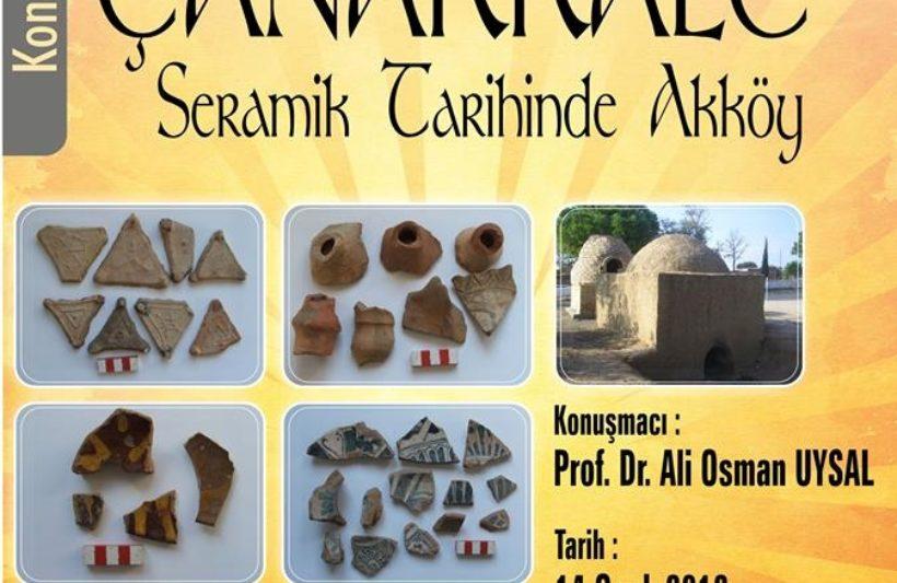 Çanakkale Seramik Tarihinde Akköy